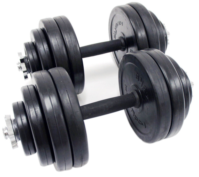 Juego de mancuernas Kit Pesos Entrenamiento Gimnasio Fitness cuerpo edificio casa Entrenamiento Muscular bodybuilding- rubbercoated Hierro Combinación): ...
