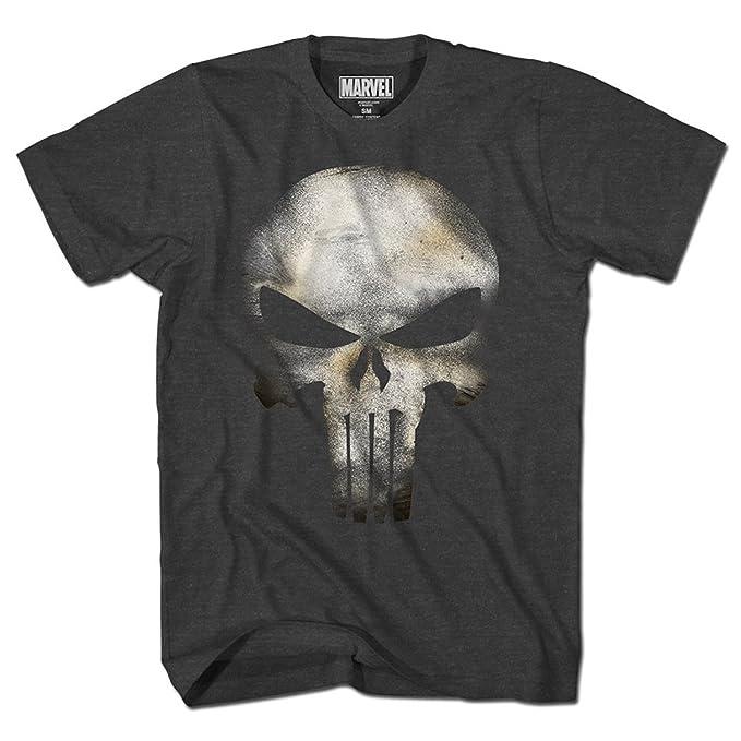 f6f82f4c58593 Amazon.com  Mad Engine Punisher No Sweat Mens Black Heather T-Shirt ...