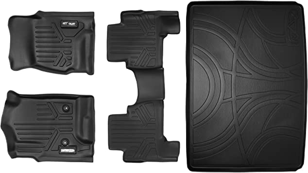 SMARTLINER FloorMats For Cadillac Escalade ESV 2015-2016 Black A0136//B0166//C0166