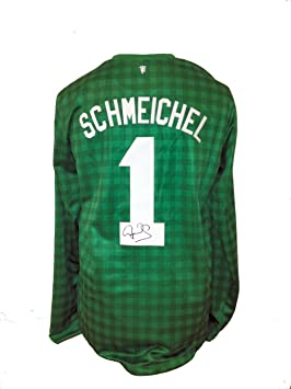 Réplica de camiseta de fútbol del Manchester United firmada por Peter Schmeichel