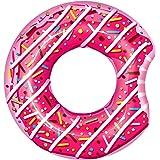 Promobo flotador forma Donuts inflable Niños flotador rosa