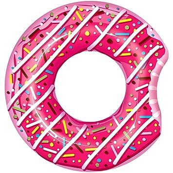 Promobo flotador forma Donuts inflable Niños flotador rosa: Amazon.es: Hogar