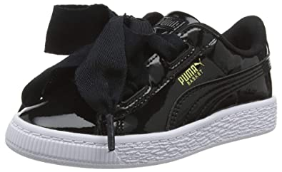 04800456bacd Puma Girls   Basket Heart Patent Ps Low-Top Sneakers  Amazon.co.uk ...