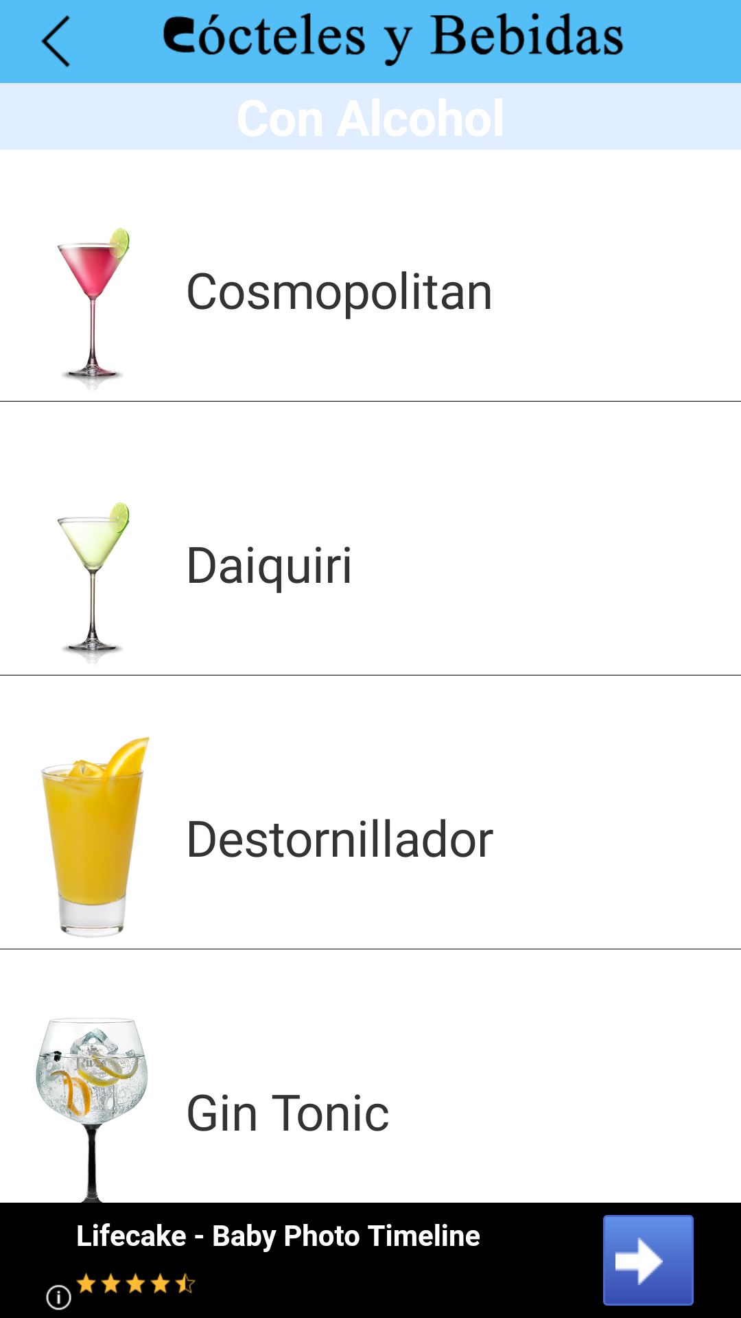 Cócteles y Bebidas
