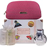 Bvlgari Omnia Crystalline 4 Pc. Gift Set for Women Edt 2oz + Bath & S/g 2.5 Oz + B/l 2.5 Oz + Beauty Pouch, 2…