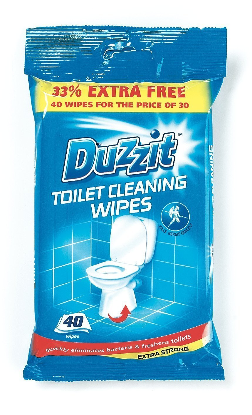 Toilet Cleaning Wipes 40pk Duzzit