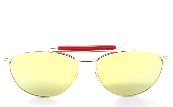 9970516ebf7 Image Unavailable. Image not available for. Color  Thom Browne TB-015 LTD  Gold Oversized Aviator Sunglasses ...