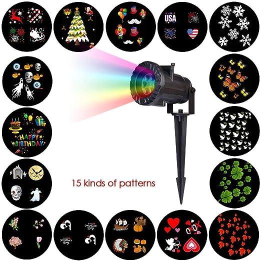 Proyector De Luces, Proyector De Luces para Navidad, 15 Diversas ...