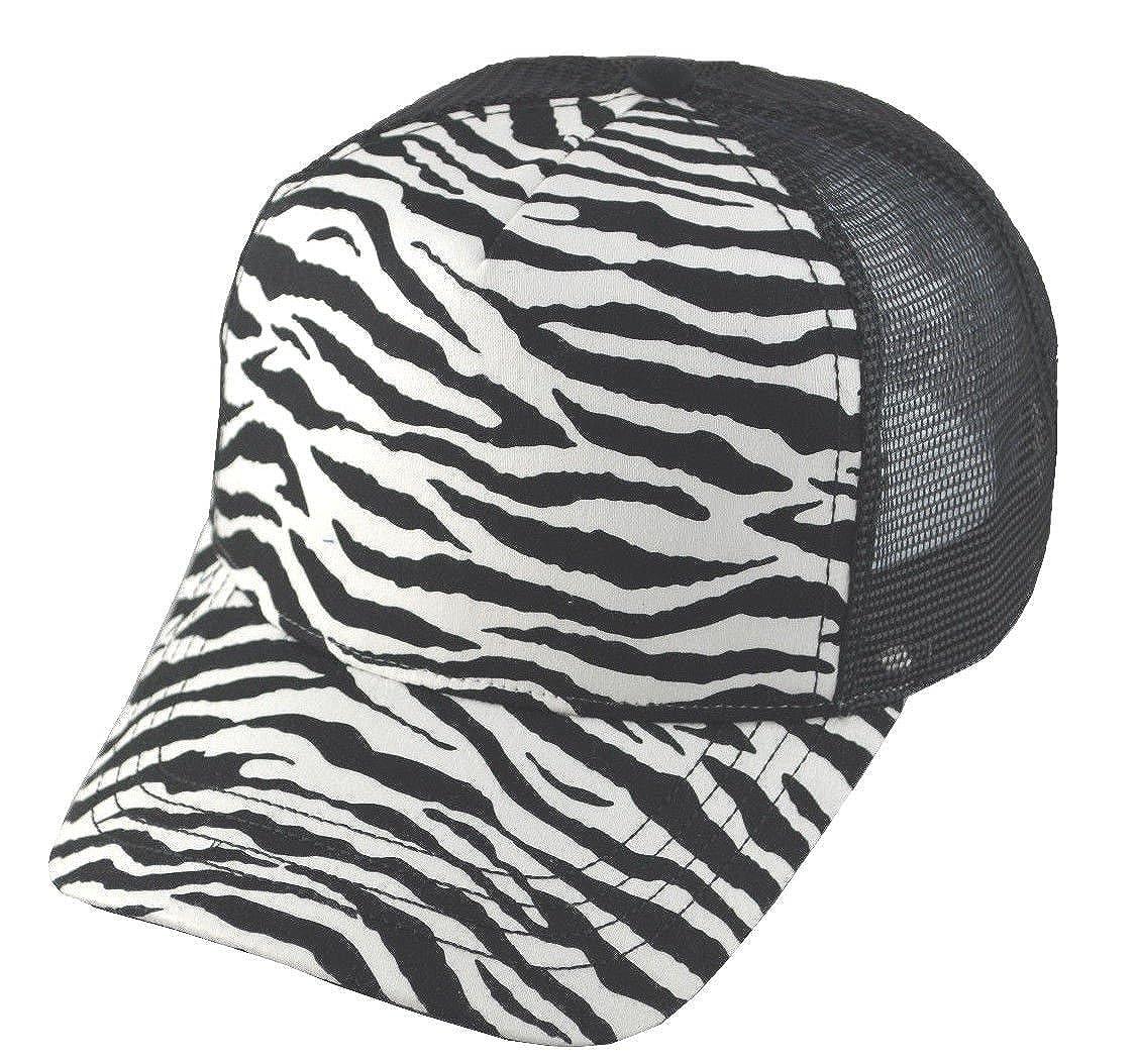 G Zebra Print Fashion Mesh Trucker Cap