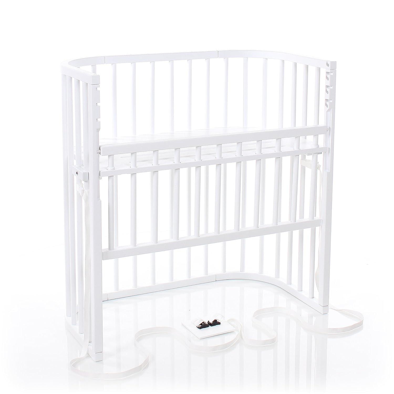 babybay Boxspring Comfort Beistellbett, weiß lackiert