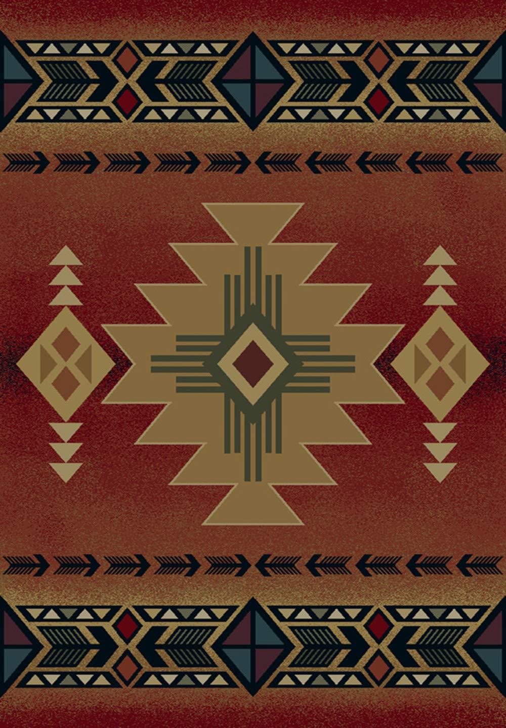 Arizona Crimson Western Rug