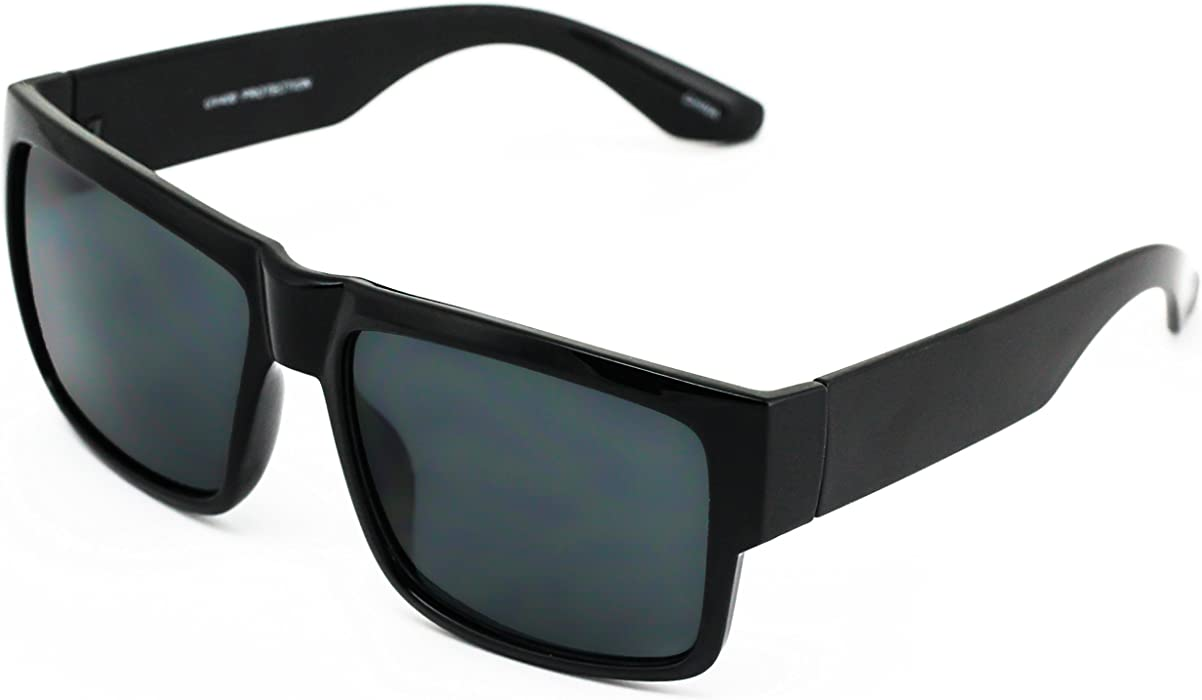 dd3b54623d3fb Large Square CHOLO Sunglasses Super Dark OG LOCS Style GANGSTER Style Black  NEW
