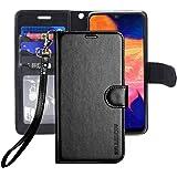 ERAGLOW Galaxy A10E Case,Galaxy A10E Wallet Case,Premium PU Leather Wallet Flip Protective Phone Case Cover w/Card Slots & Ki