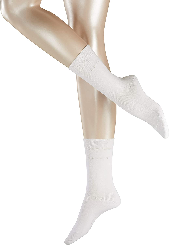 Gr/ö/ße 35-42 Versch Hautfreundliche Str/ümpfe mit druckfreiem Komfortbund Farben 80/% Baumwolle 2 Paar ESPRIT Damen Socken Basic Easy 2er Pack