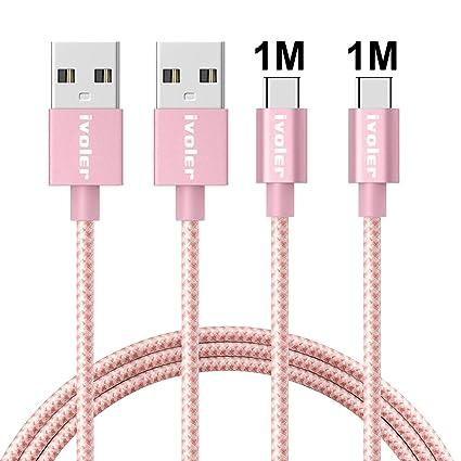 ivoler Cable USB Tipo C a USB A 3.0 [2 Pack: 1M+1M] Cargador USB ...