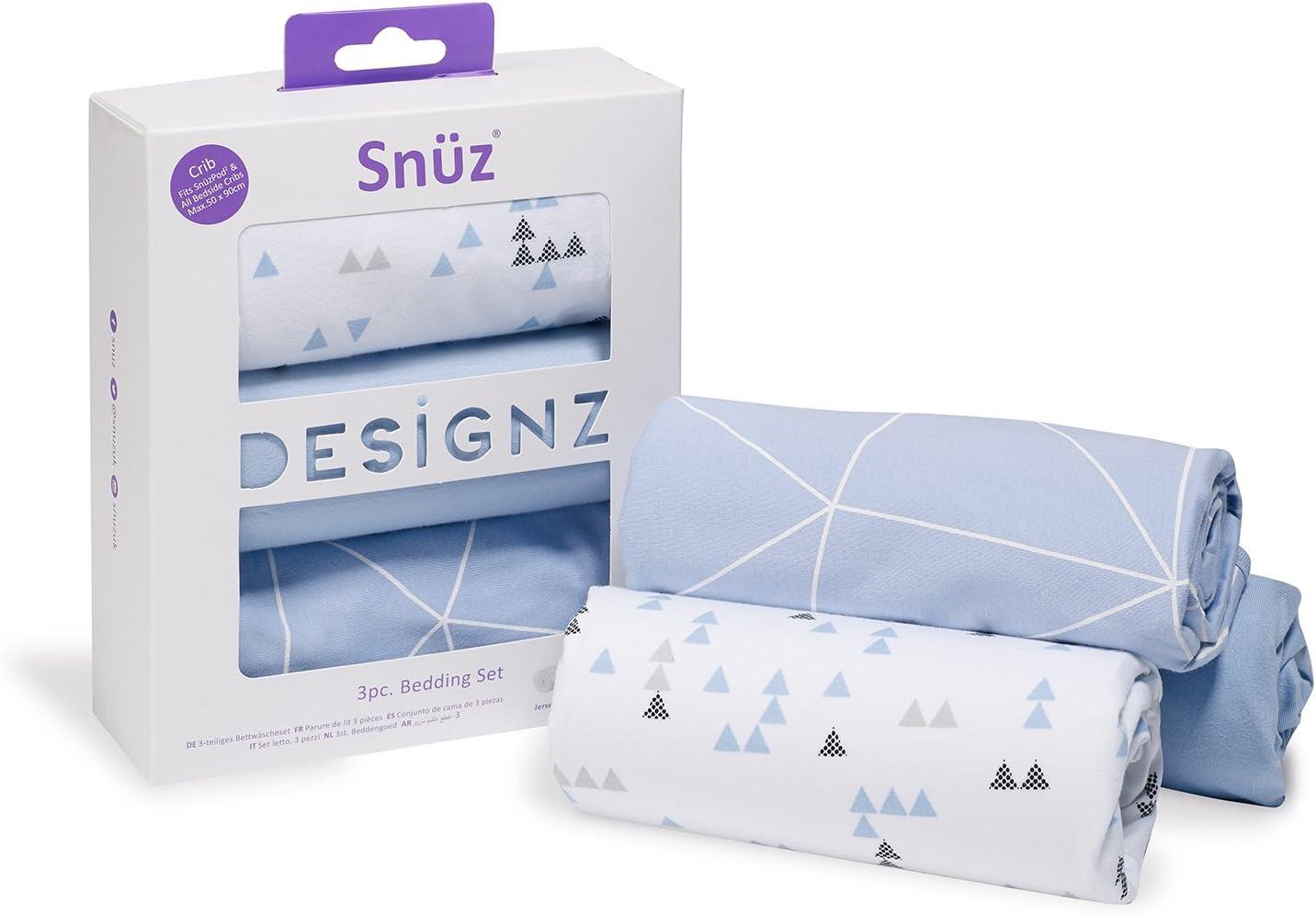 compatible avec matelas SnuzPod et Chicco Next2Me Snuz Literie pour berceau avec motif nuages