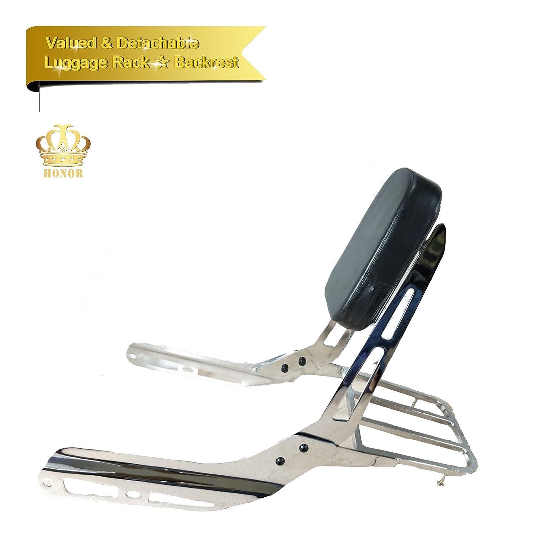Honor JD Sissy Bar Backrest w/Luggage Rack Set for HONDA VTX 1800 1300 R S