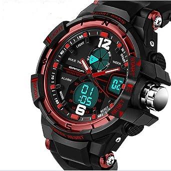 QBD Digital-Analog niños niñas deporte reloj digital con alarma Cronómetro Cronógrafo – 50 m a