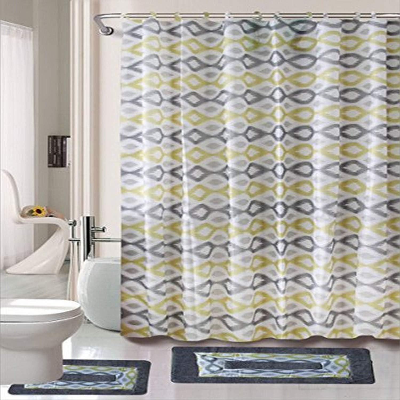 Kashi Home Keena 15 Piece Printed Shower Set
