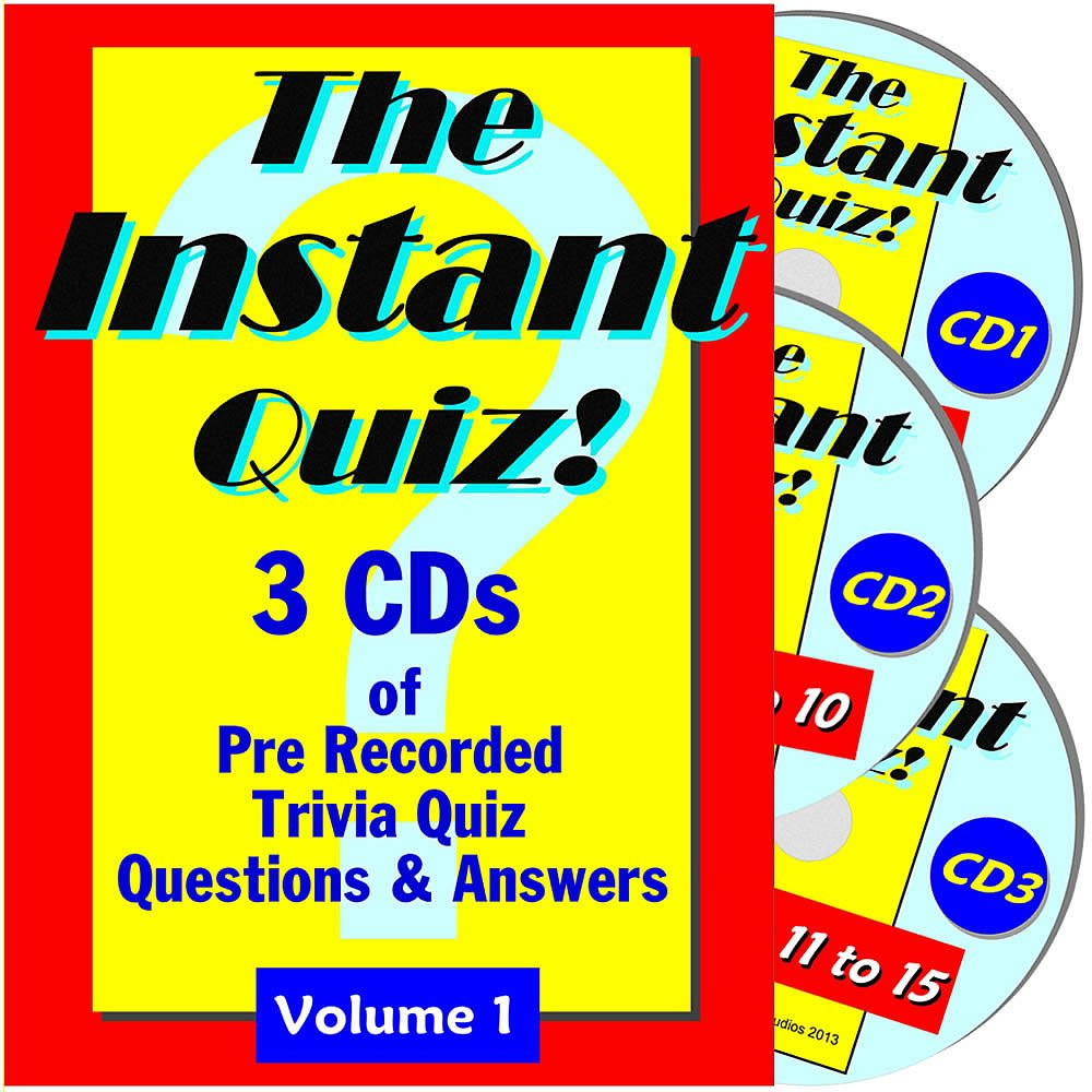The instant quiz trivia quizzes on audio cds with answers hosted by quizmaster mike rouse amazon co uk music