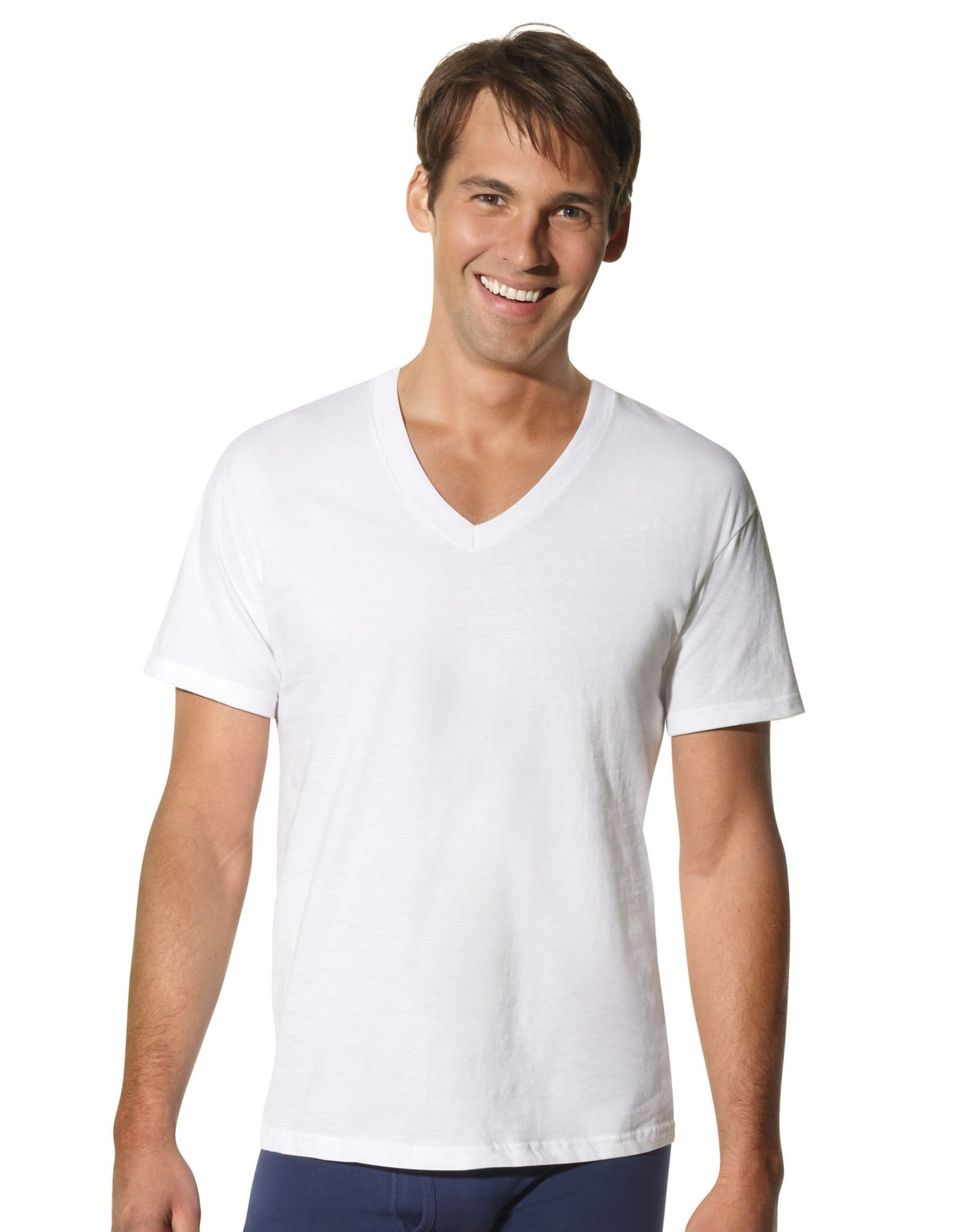 Hanes Men's Big Big & Tall V-Neck Undershirt 3-Pack 115hnt, White, X-Large Tall by Hanes