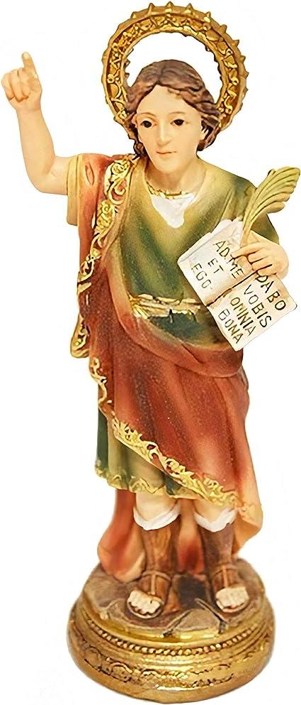 Trofeos Cadenas San Pancracio Figura Religiosa En Resina De 11 Cm Para Hogares Y Negocios Multicolor S Amazon Es Hogar
