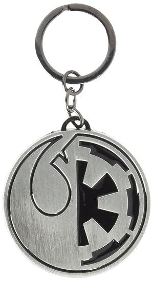 Star Wars Rogue One Rebel & Imperial Split Symbol Llavero ...