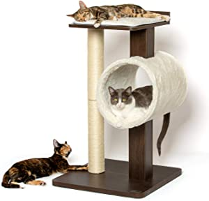 PetFusion Modern Cat Tree House & Tall Scratching Post (33