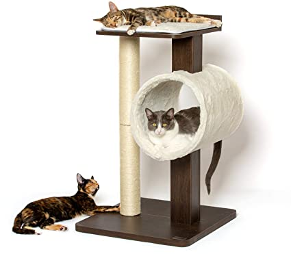 bd9fca172e62 Amazon.com : PetFusion Modern Cat Tree House & Tall Scratching Post (33
