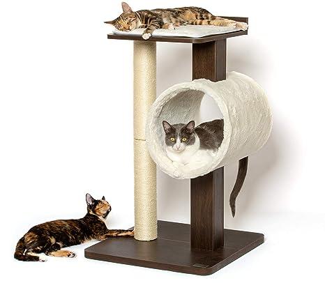 PetFusion Moderno Gato árbol de Actividad y rascador. (Muebles Grado Tablero DM; Catnip