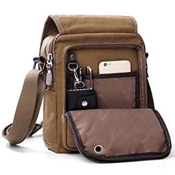 Amazon.com   XINCADA Mens Bag Messenger Bag Canvas Shoulder Bags Travel Bag  Man Purse Crossbody Bags for Work Business   Messenger Bags 493b247c81