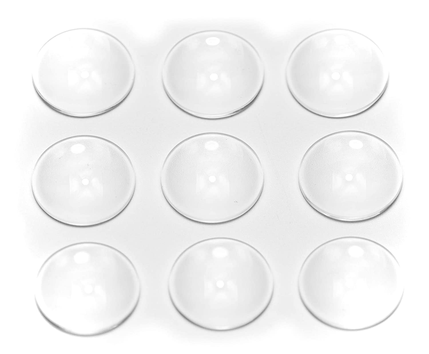 25mm-20pcs ALL in ONE 20pcs Flat Back Clear Glass Dome Cabochons Clear Magnifying Cabs Non-calibrated for DIY Photo Pendant Craft Jewelry Making