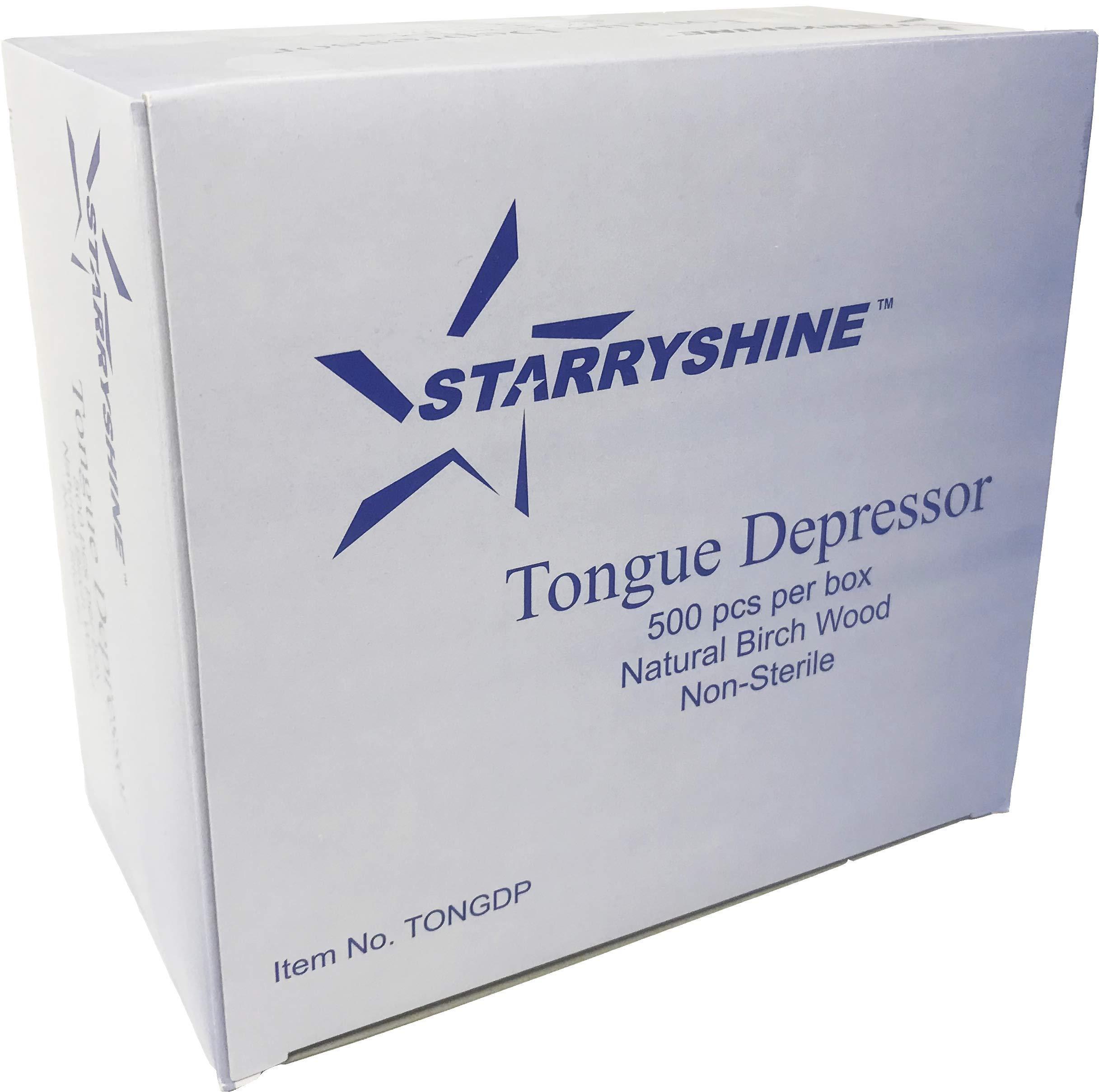 Tongue Depressors Non-STERILE Standard Size 6''x0.75'', Premium Natural Birch Wood Craft Sticks (2500 PCS (5 BX)) by Starryshine (Image #5)