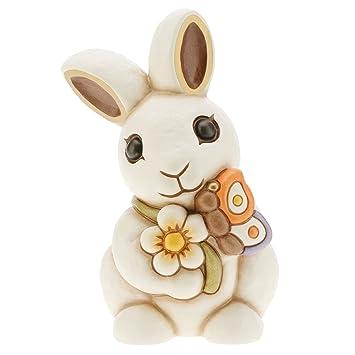 THUN® - Coniglio Bianco Grande con Fiore e Farfalla - Animali ...