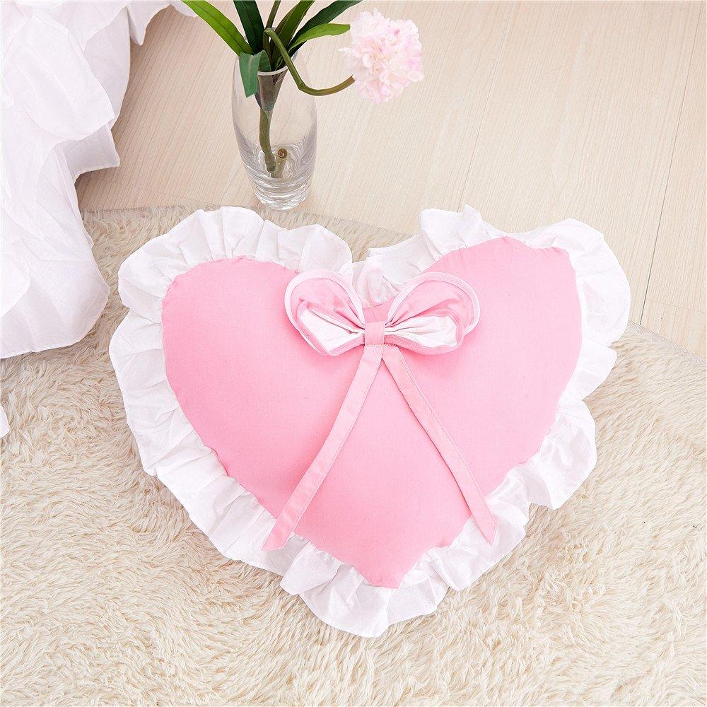 Amazon.com: Lotus Karen Decorative Cute Throw Pillows With Ruffles ...