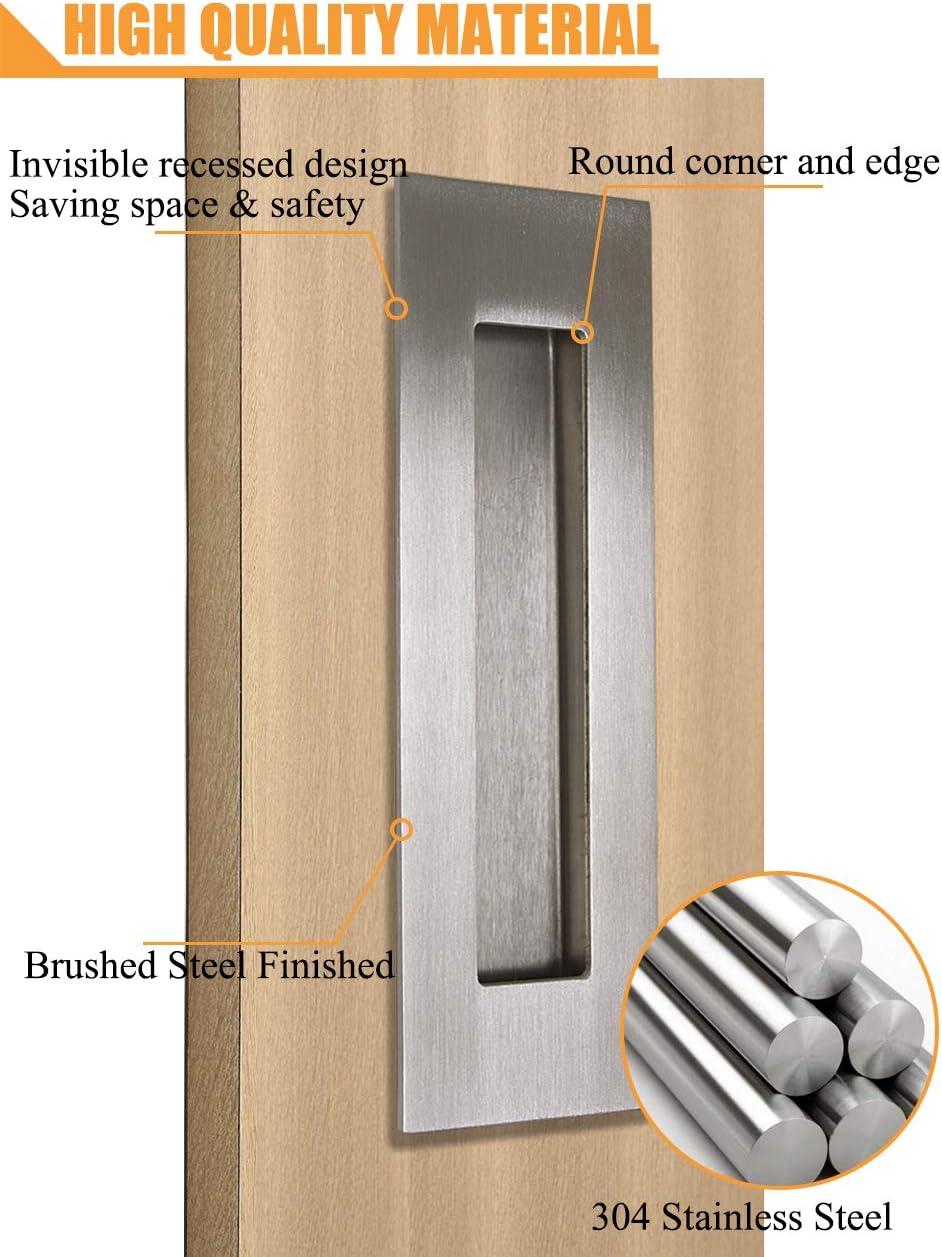 PinLin - Tirador rectángulo de acero inoxidable 304 para puerta ...