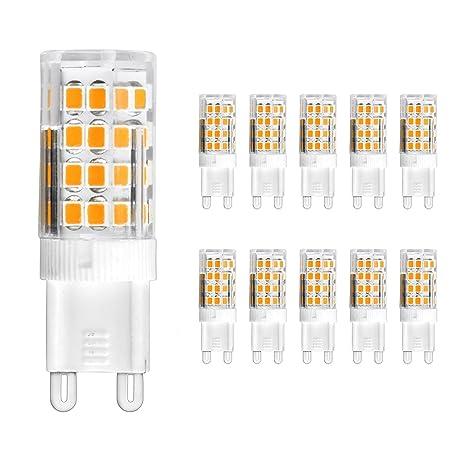 Juego de bombillas LED halógenas Acorn G9 (10 unidades, 5 W,