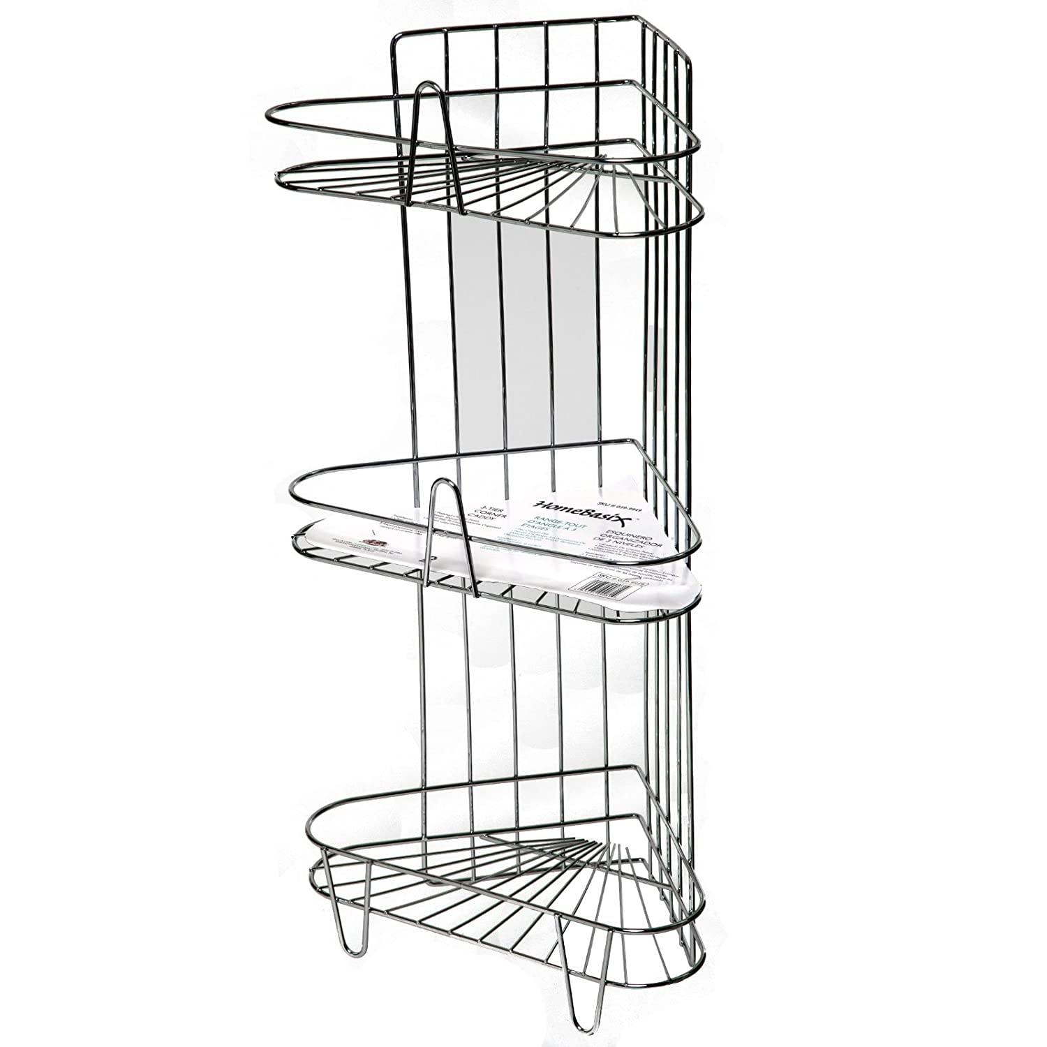 Amazon.com: Three Tier Shower Caddy, Chrome: Home & Kitchen