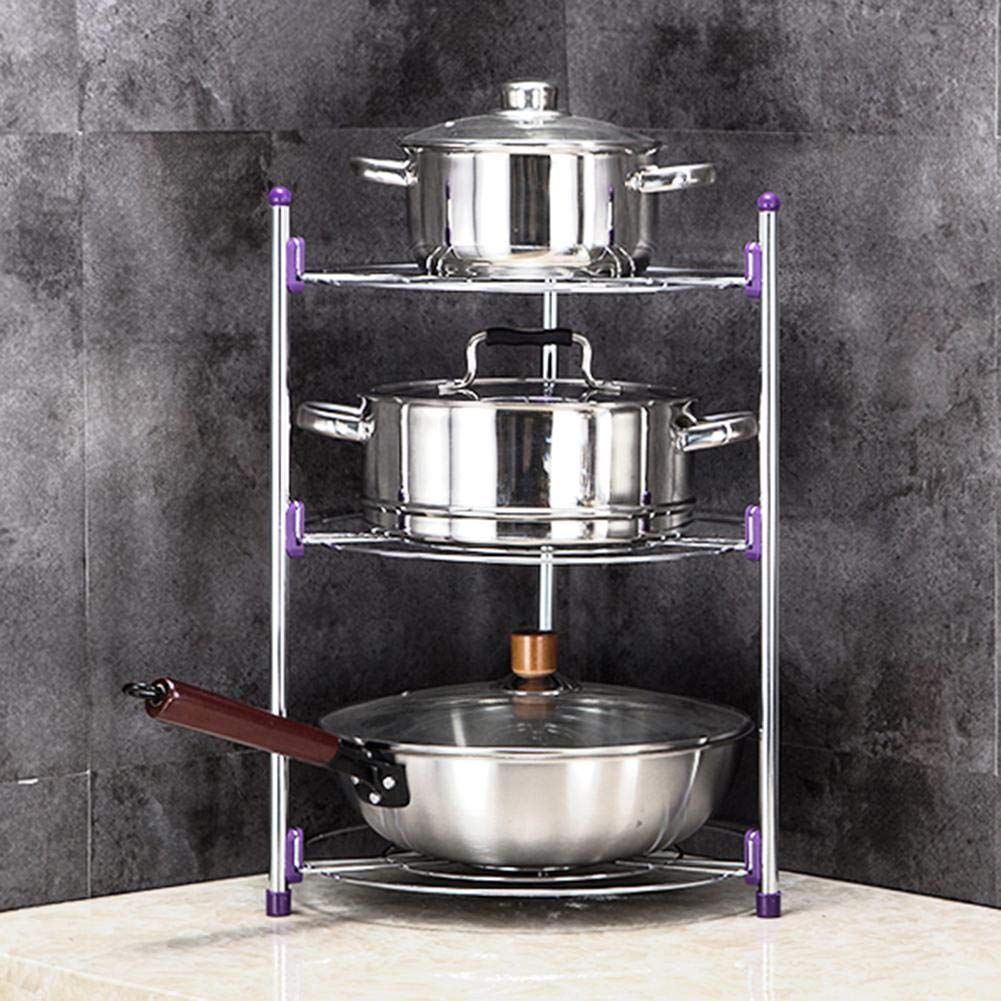 Soporte organizador de armario de cocina con 3 estantes, 2 ...
