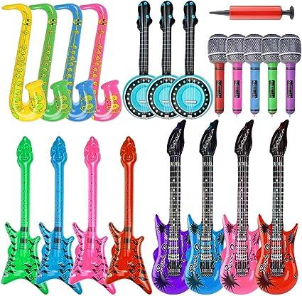 Amazon.com: Juego de 20 piezas de juguetes inflables para ...