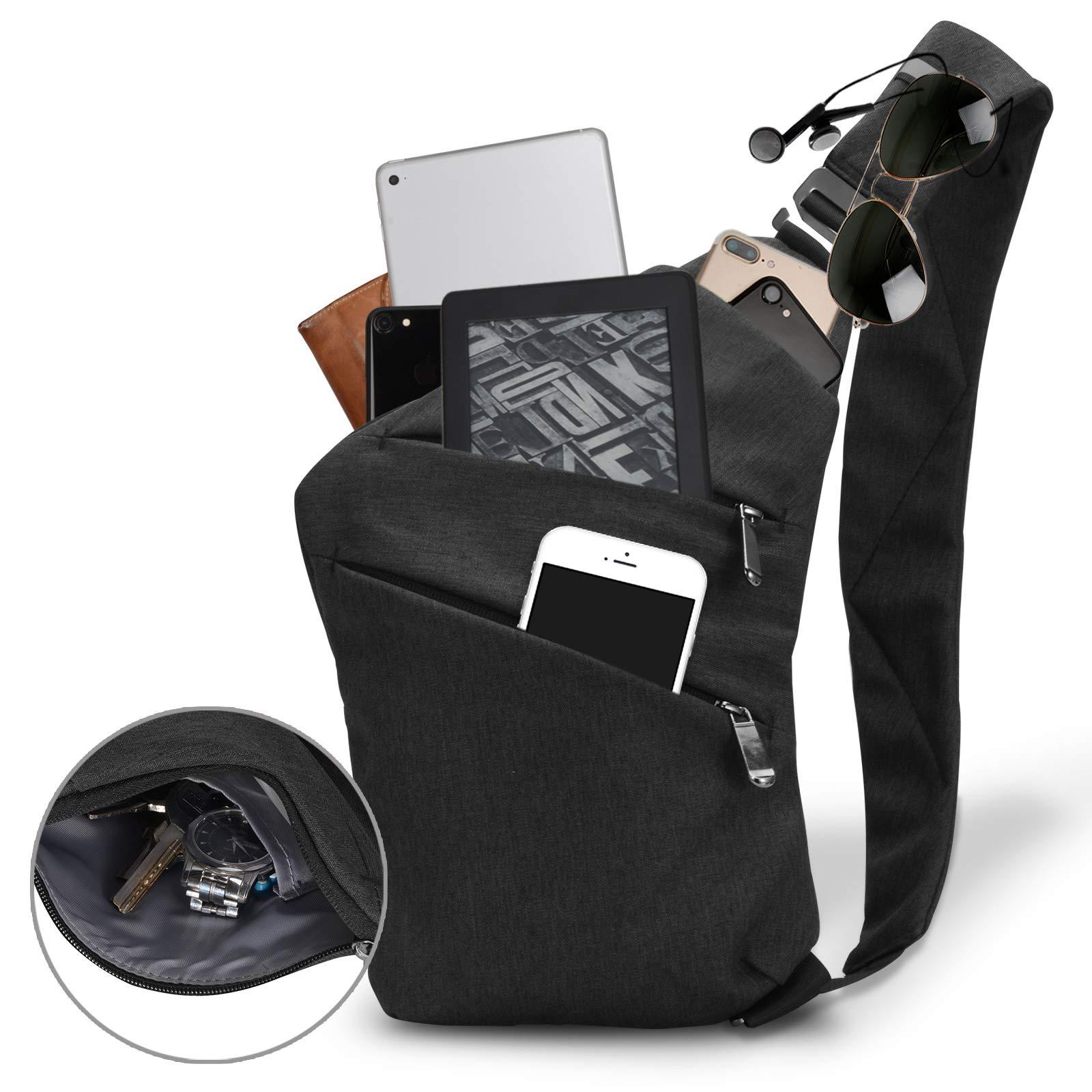 Voilamart Sling Bag Crossbody Chest Bag-Shoulder Backpack Lightweight Daypacks Multipurpose for Gym Sport Travel Hiking Men Women