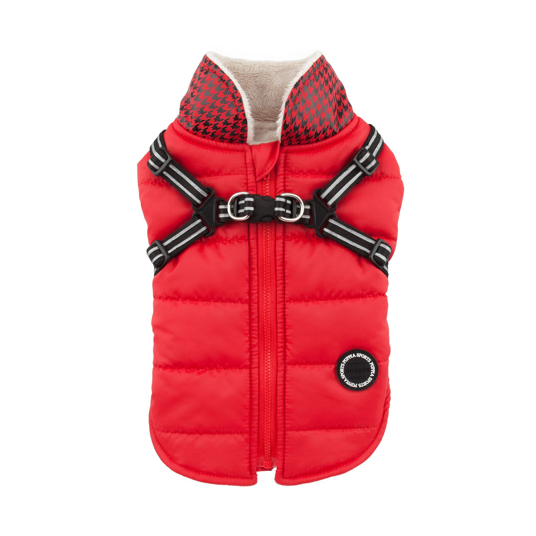 Puppia Authentic Winter Storm Winter Vest, Small, Red
