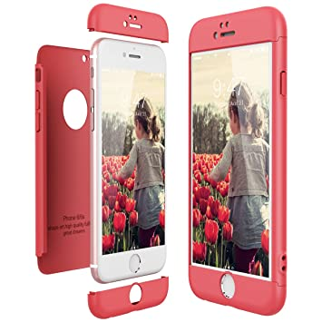 CE-Link Funda para Apple iPhone 6 6S Rigida 360 Grados Integral, Carcasa iPhone 6 Silicona Snap On Diseño Antigolpes Choque Absorción, iPhone 6S Case ...