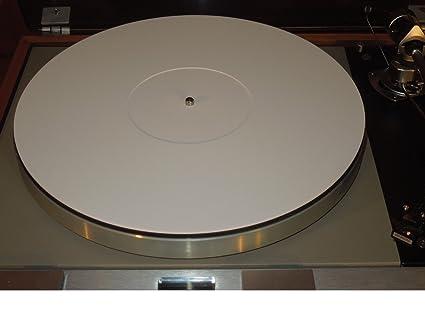 Plexiglás de acrílico blanco Tocadiscos alfombrilla de Record 2 mm ...