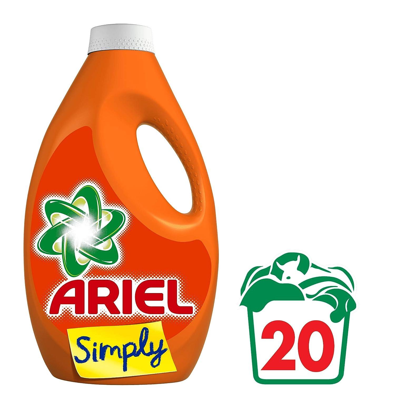 Ariel Simply lavanda lavandería líquido 1,1L 20lavados)–Lote de 2