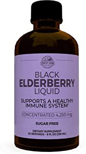 Country Farms Country Farms Elderberry Liquid, Supports A Healthy Immune System, Sugar Free, 8fl Oz. 50 Servings, 8 Fl Oz