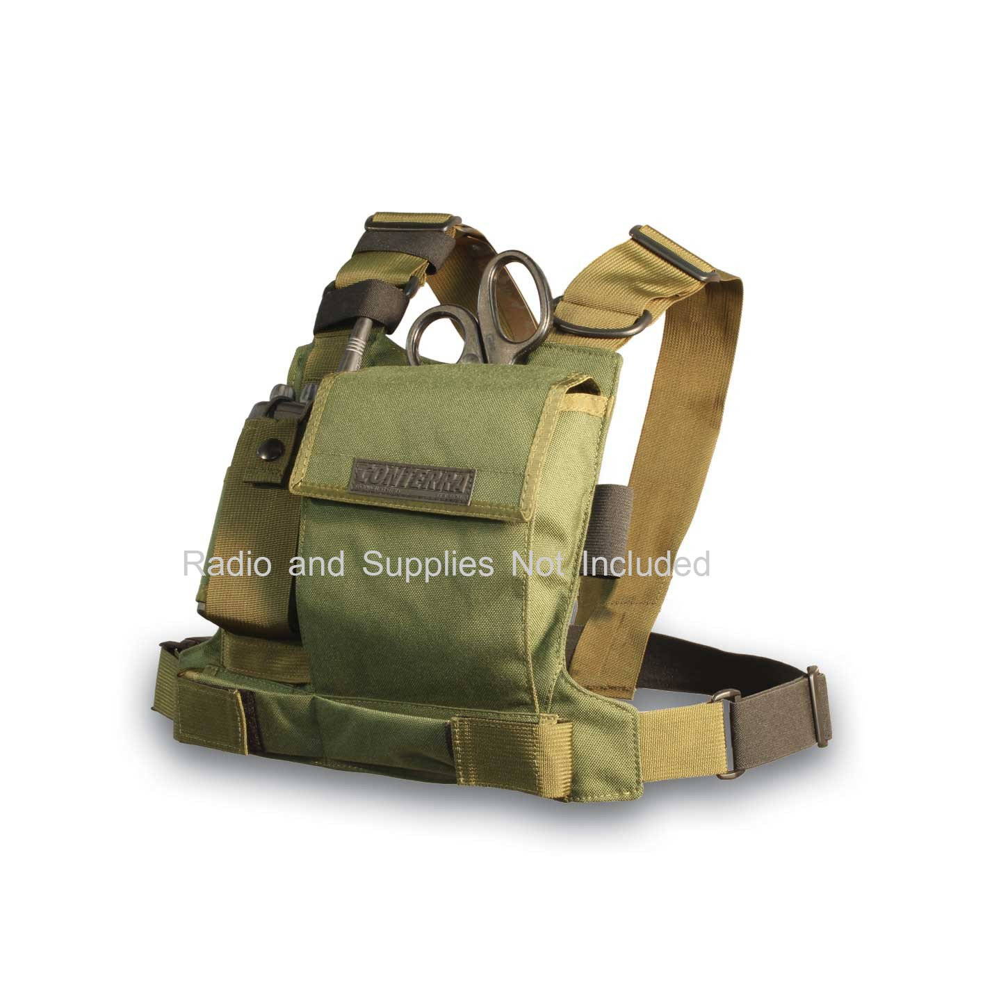 Conterra Tool Chest Radio Chest Harness (MILSPEC Green)