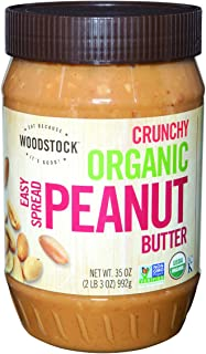 product image for Woodstock Farms Organic Peanut Butter, Easy Spread, Crunchy, Salted, 35-Ounce Jars (Pack of 3)