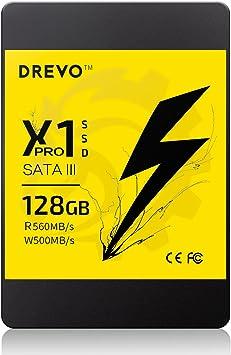 DREVO X1 Pro Disco Duro sólido SSD de 2.5 Pulgadas 128GB SATA III ...
