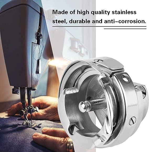 SALAKA Piezas de la máquina de Coser de Plata Lanzadera de Gancho Giratorio Caja de la Bobina Accesorios para máquinas de Coser industriales: Amazon.es: Hogar